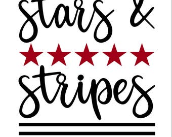 Stars and Stripes SVG/PNG/DXF