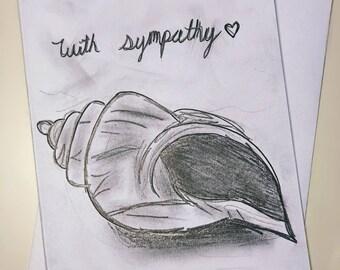 Seashell Sketch Sympathy Card