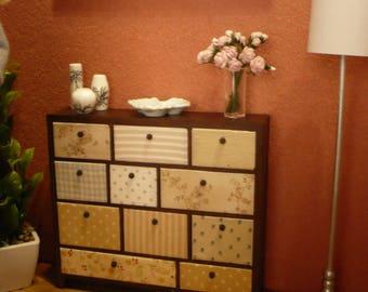 Sideboard cabinet,  Scale 1: 6 For barbie, blythe, pullip ...