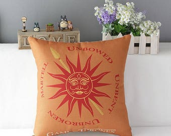 Game of Thrones - Martell Cushion Cover (Unbowed Unbent Unbroken)