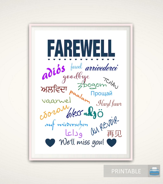 Eloquent image pertaining to going away card printable