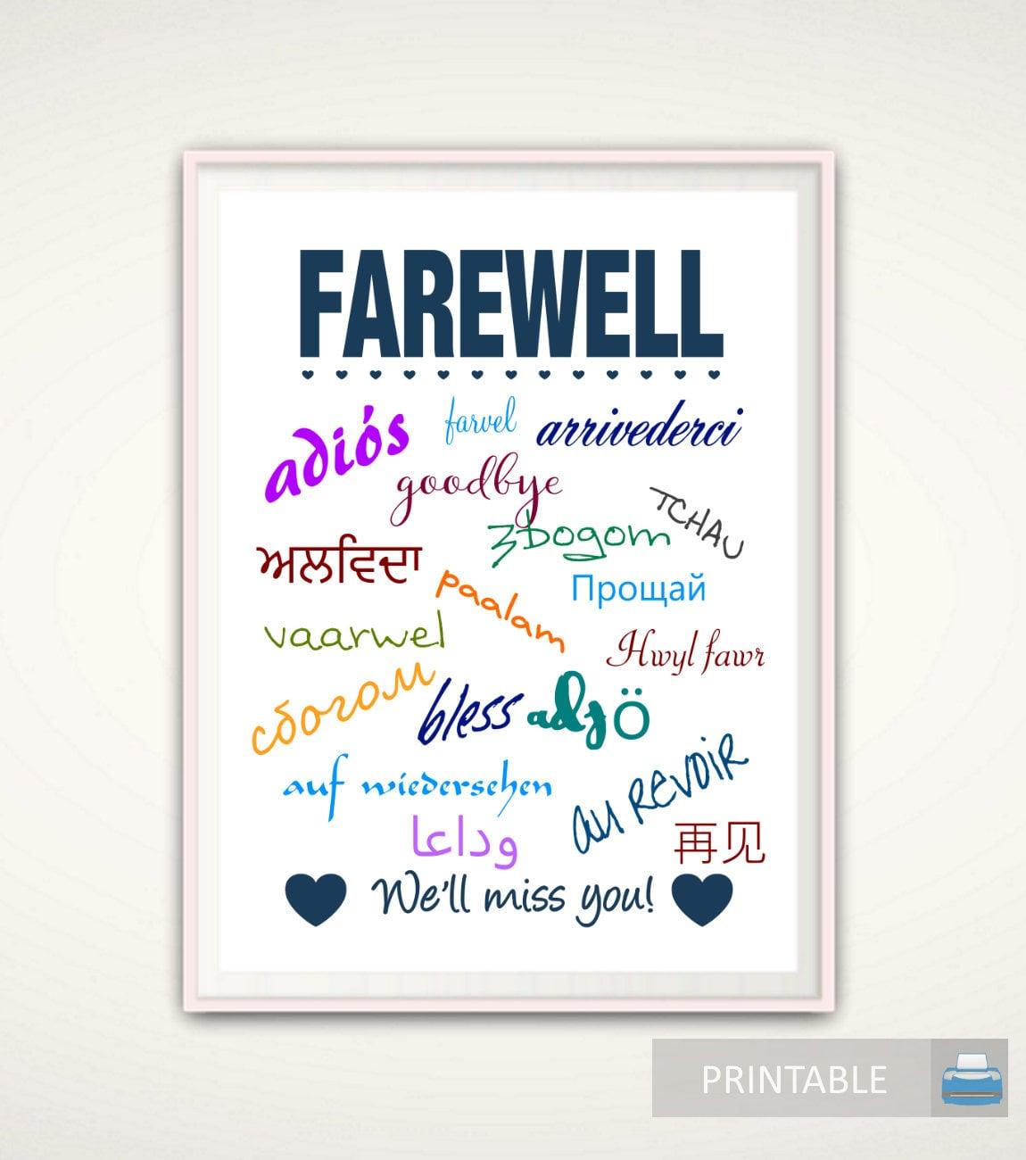 Goodbye gift going away gift goodbye print farewell print zoom monicamarmolfo Image collections