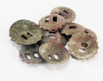 Archaeological dig finds crafts old buttons Primitive Brass buttons Archaeological Excavations antique accessories for bags hardware supply