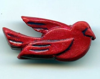 Red Bird Pin