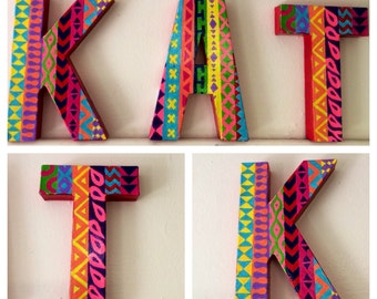 Painted Patterned Letters