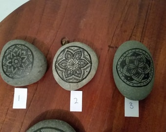 drawn Mandala rocks