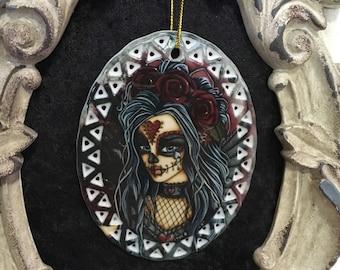 Day of the Dead Art - Ceramic Ornament - Wild Heart