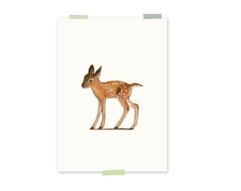 Print - young deer