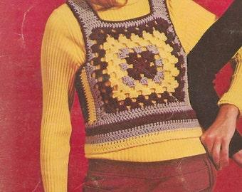"""HIPPY DIPPY -  Vintage Women's  """"Shrink"""" style vest pattern"""