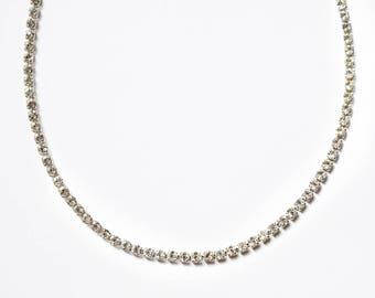 Moonlight Rhinestone Choker ~ Diamond Choker ~ Silver Choker ~ Boho Jewelry
