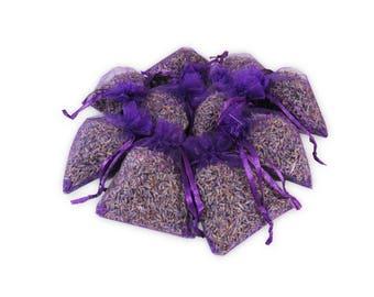 Lavender Sachet Bags Set, 25PCS Aromatic Wedding And Baby Shower Favors Potpourri Dried Purple Fragrance Lavender Bud Sachets - LS001-2
