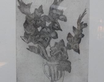 Gladiolus and hibiscus