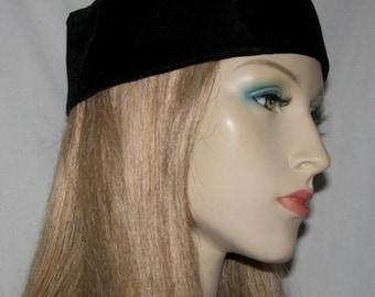 Kippah Head Covering | BLACK VELVET BUCHARIAN Kippah Headcovering | Jewish Kippah | Bar Mitzvah Hat | Yarmulke | Kippot | Wedding Kipah
