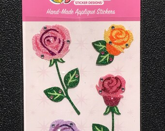 RARE Sandylion Stickers Scrapbooking vintage Glitz Hand-made Flower, Flowers - Brand New In Package