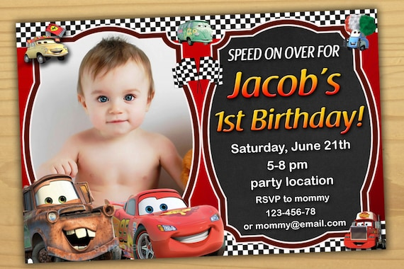 Cars Invitation Card Template Free: SALE Disney Cars Birthday Invitation Disney Cars Invitation