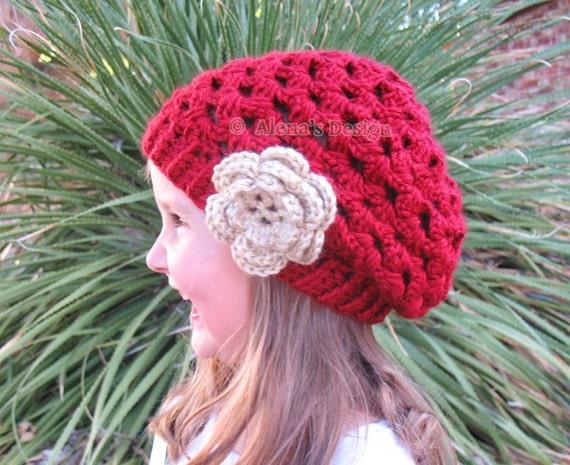 Crochet Pattern 057 Mary Slouchy Hat Crochet Patterns Lace Hat