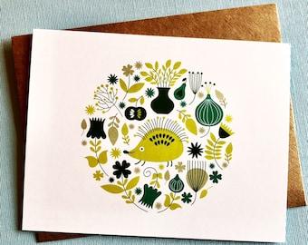 Hedgehog Flat Notecard Set