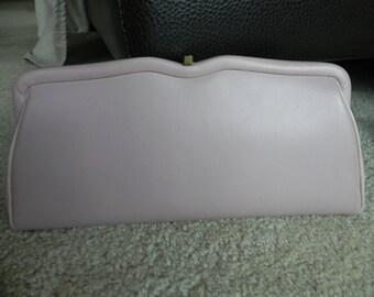 1960's or 70's Light Pink Vinyl Clutch Purse