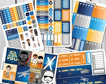 Star Wars Inspired - New Trilogy - Planner Sticker Kit For Erin Condren Life Planner Vertical - Movie
