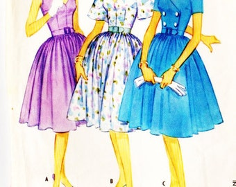 McCall's 5407 Misses Vintage 1960s Dress with Choice of Three Bodices Sewing Pattern