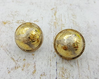 Silver with 24kt gold overlay Pierced earrings Thai 925