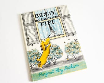 Vintage 1980s Childrens Book / Benjy and His Friend Fifi by Margaret Bloy Graham 1988 HCDj FIRST Edition VGC / Dog Show Poodle Adventure