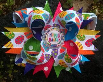 Easter Egg Bottlecap Hairbow