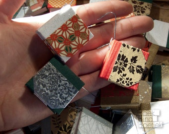 Five tiny handmade books for the Christmas Tree, Christmas decoration, Christmas ornaments