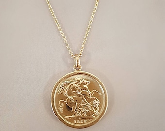 St george etsy st george of england pound coin pendant gold vermeil 925 sterling silver aloadofball Image collections