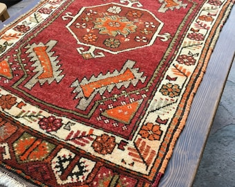 Turkish Old Small Rug / 3'5'' x 1'11'' ft / 1.03 x 0.60 mt