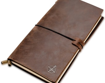 Wanderings Leather Refillable Travel Journal