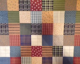 Squared Art Patchwork 100% Cotton Fabric #372