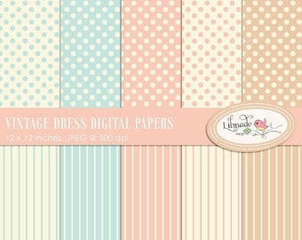 50%OFF Digital paper, vintage digital paper, vintage dress digital papers, shabby digital papers, shabby scrapbook paper, P214