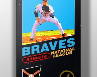 Atlanta Braves Retro NES Box Art Print- Freddie Freeman