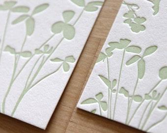 Irish Letterpress Wedding Invitation  (Sample Set) - Letterpress Wedding Invitation