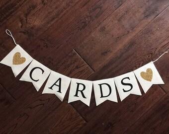 Wedding Cards Banner - Cards sign - Wedding Decor - Felt Banner