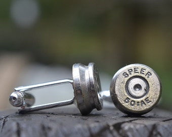 Wedding Cuff links, Speer 50AE cuff links silver cuff links silver cufflinks bullet cuff links wedding cufflinks