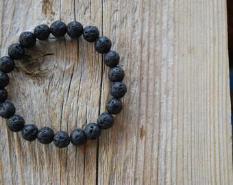 Mens essential oil diffuser bracelet yoga bracelet wood bracelet mala beads meditation beads yoga beads yoga jewelry lava beads