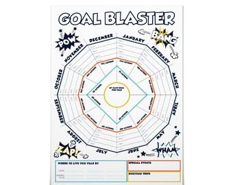 Goal Planner, Goal Setting, Goal Worksheet, Resolution Tracker, Yearly Goal Tracker, Business Planner, Habit Tracker, Printable New Year