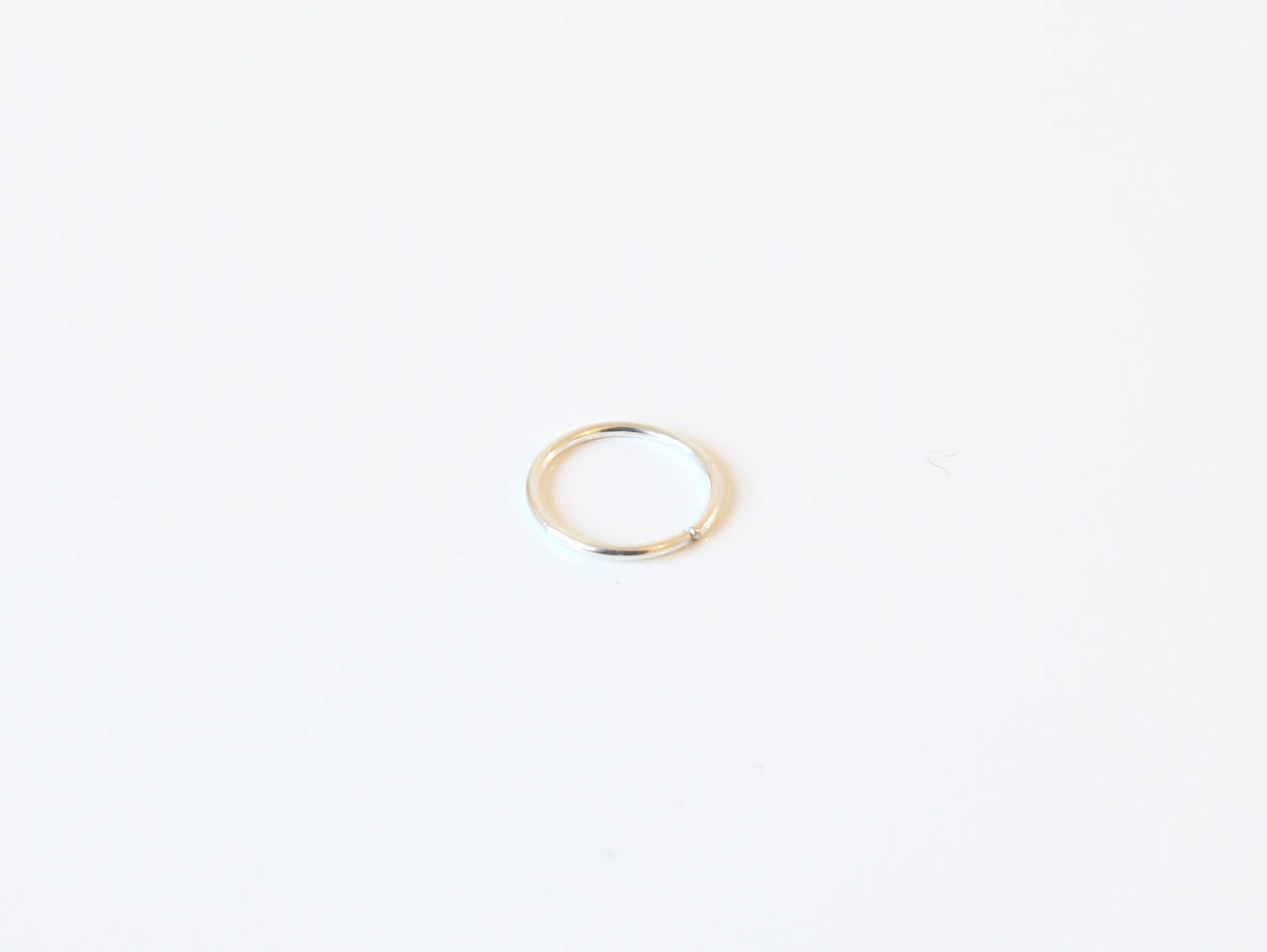 23G 22G Sterling Silver Infinity Ring 512mm Nose