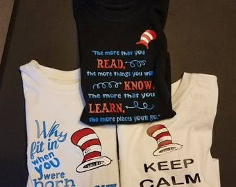 Dr suess inspired shirts