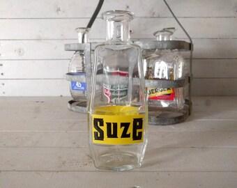 Carafe à eau de marque Suze Gentiane apéritif / pichet, Original Vintage Français Bistro boisson, verrerie promotionnel