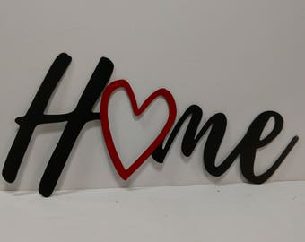 HOME with Heart Wall Art