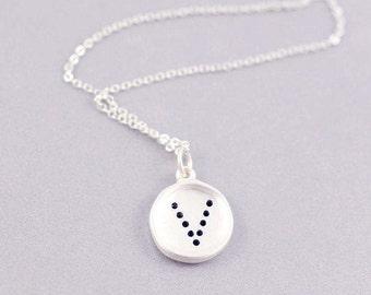 V Letter Necklace | V Initial Necklace | V | Letter Necklaces | Personalised Jewelry | Minimal Necklace | V Tiny Letter Necklace | V | S