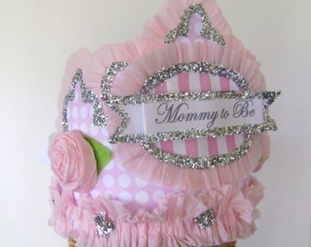 Baby Shower Crown, baby shower hat, Mommy to Be hat, customize