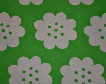 Retro green pepparkaka fabric, swedish 70s scandinavian