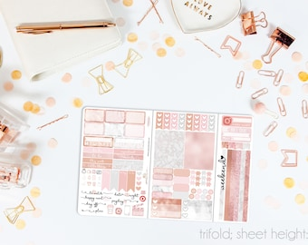 Luxe TN POCKET Weekly Kit // 100+ Matte Planner Stickers // Perfect for your Pocket/Personal Traveler's Notebook // TNP1000