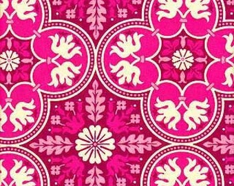Historic Tile Retro Pink from Notting Hill by Joel Dewberry, 100% Cotton Quilting Fabric Apparel, Fabric by the Yard