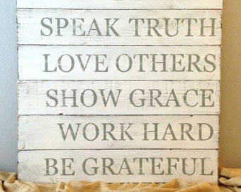 Made to Order Inspirational Quote / Message Rustic Distressed Wooden Sign - Reclaimed Wood - Family Room Sign Custom Colors