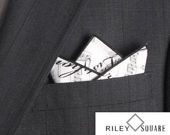 Concerto Encore Black and White Pocket Square/Handkerchief/Fashion